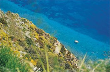 Navigando, navigando nell'acqua blu alla scoperta delle più belle baie di Ischia